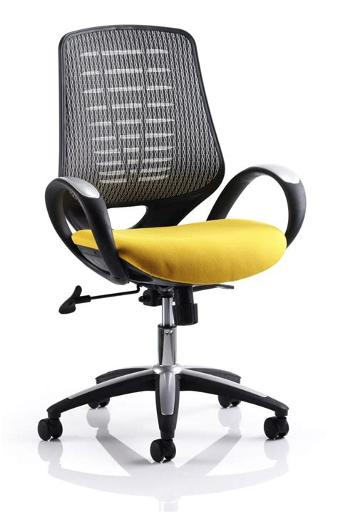 Office Chairs Yellow Sprint Mesh Office Chair In Yellow