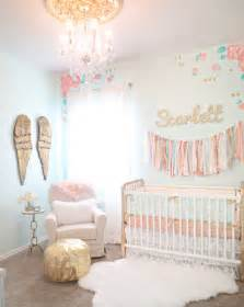 Baby Decor Vintage Lace Inspired Mint And Gold Nursery