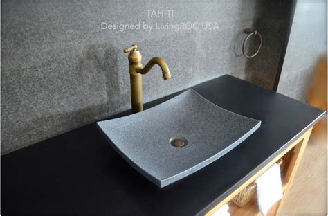 sink design 18 quot granite stone bathroom vessel sink design tahiti