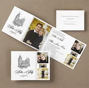 lds wedding invitations lds wedding church decor reception ideas