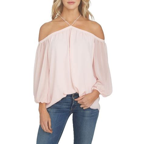 Chiffon The Shoulder Blouse 1 state the shoulder chiffon blouse rank style