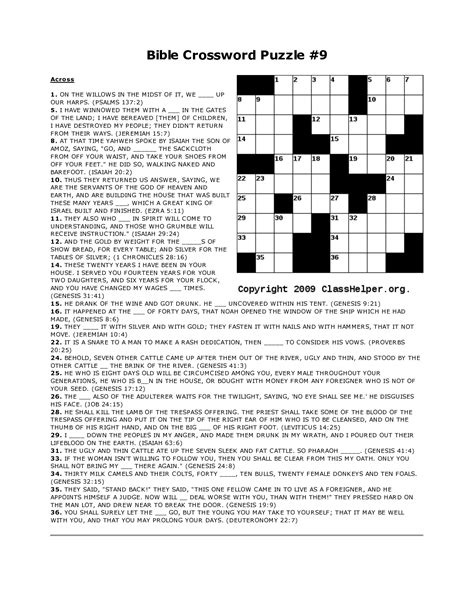 printable puzzles bible 4 best images of free printable biblical crossword puzzles