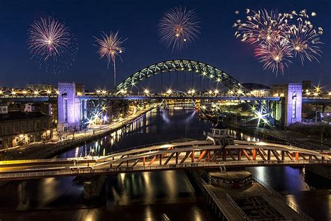 new year 2018 newcastle upon tyne newcastle quayside fireworks canvas print by northeast