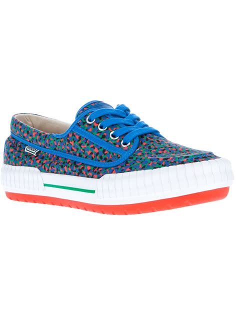 kenzo shoes lyst kenzo helios shoe in blue for
