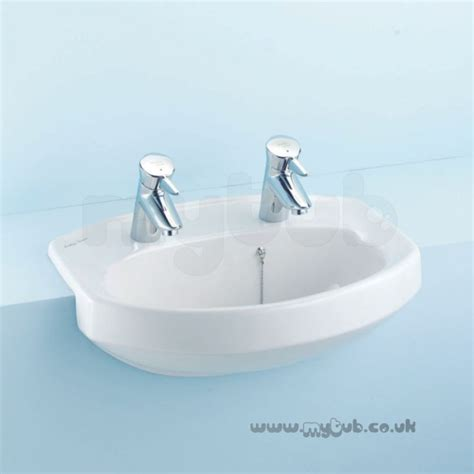 Armitage Shanks Vanity Units by Armitage Shanks Profile S2442 500mm 2th Vanity Basin Wh