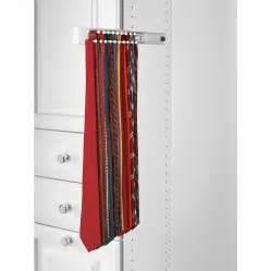 shop rev a shelf white side mount tie rack at lowes