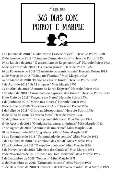 Desafio Literário - 365 dias com Poirot e Marple