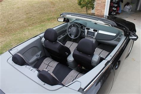 Chrysler Sebring Convertible Seat Covers by 2008 Chrysler Sebring Convertible Saddleblanket Custom