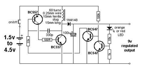 3v to 9v dc boost converter circuits