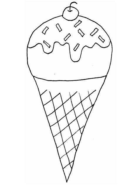 Summer Ice Cream Coloring Pages | printable icecream summer coloring pages