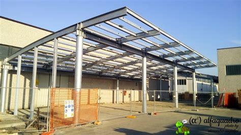 tettoie in acciaio tettoia in acciaio costruita con copertura ad arco modena