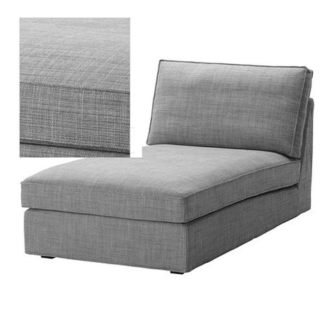 chaise slipcovers ikea kivik chaise slipcover cover isunda gray grey bezug