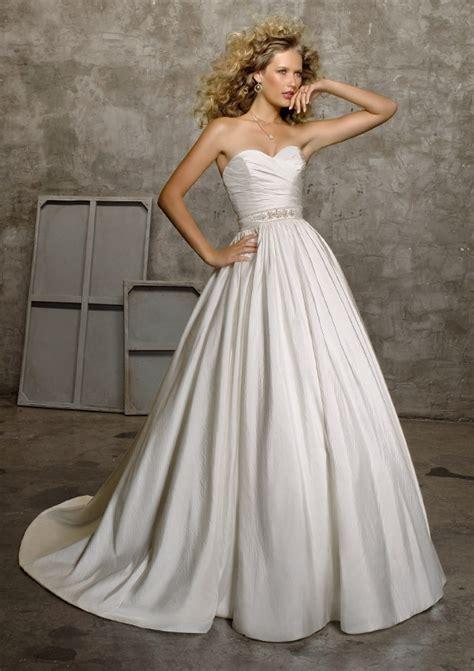 Taffeta Wedding Dress by Luxe Taffeta Wedding Dress In White Or Ivory Style 4524