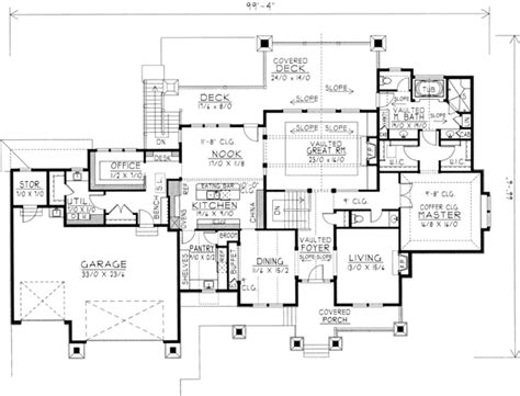 northwest house plans northwest style house plans 4466 square foot home 1 story 3 bedroom and 3 bath 3