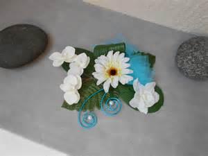 centre de table d 233 coration florale blanche et turquoise