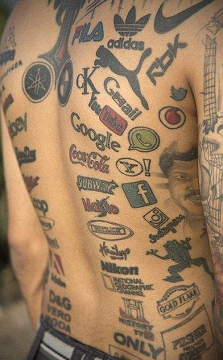 man covered in tattoos meet the who covered his with brand logo tattoos