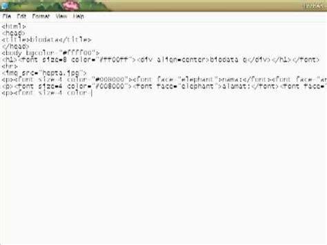membuat biodata menggunakan html tutorial membuat biodata menggunakan html youtube