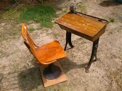 antique school desk with inkwell home furniture design