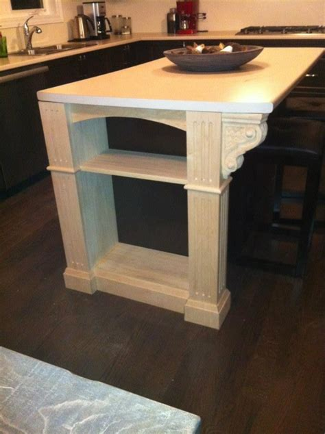 basketweave carved corbels accent kitchen remodel