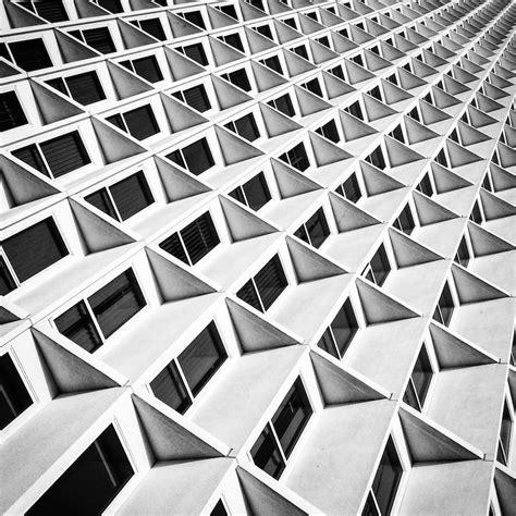 black and white vertiginous black and white buildings fubiz media