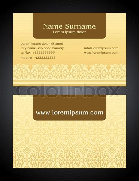 empty business card template fron and back business card creative design bright style print