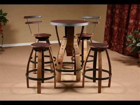 wine bar tables and chairs wine barrel furniture i wine barrel table designs