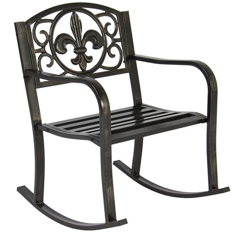metal patio rocking chairs patio metal rocking chair porch seat deck outdoor backyard glider outdoor patio rocking chairs