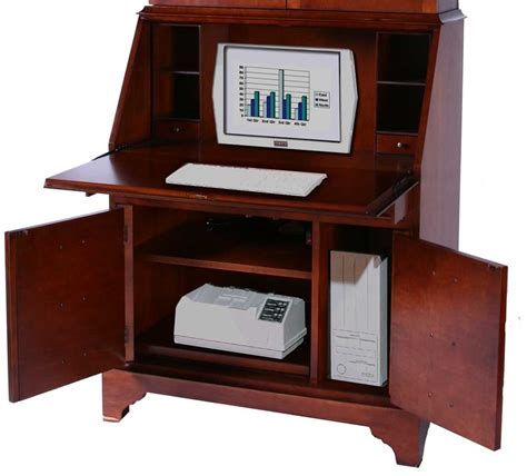 Cherry Computer Desk On Solid Cherry Wood Computer
