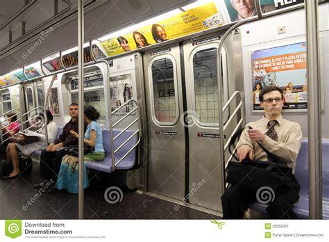 car upholstery nyc new york subway train interior editorial photo image