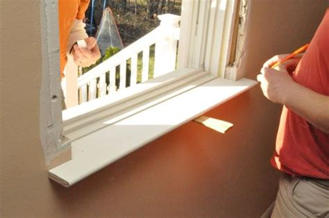 Installing Window Stool And Apron by How To Install A Window One Project Closer