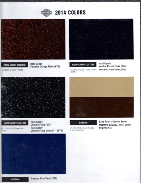 2015 harley davidson paint colors
