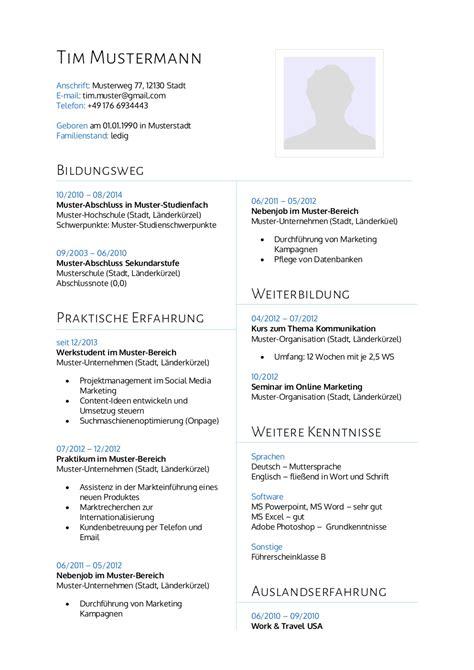 Lebenslauf Absolvent Bwl Muster Bewerbungsmuster F 252 R Bwl Lebenslauf Designs