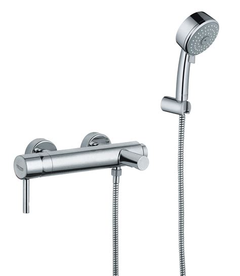 grohe essence bath shower mixer tap with shower kit