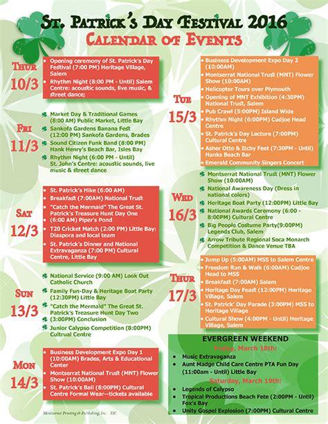 st patricks day festival calendar