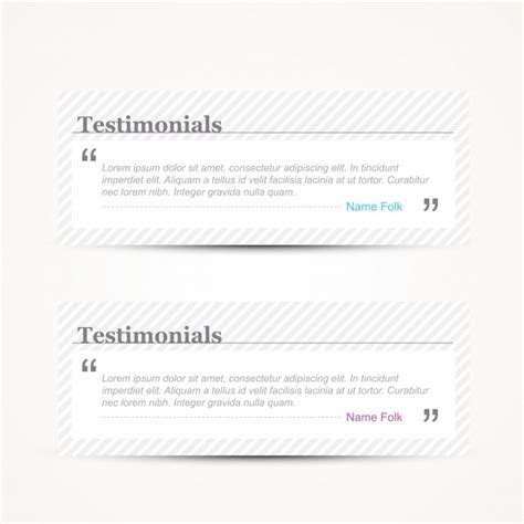 web testimonial template vector free download