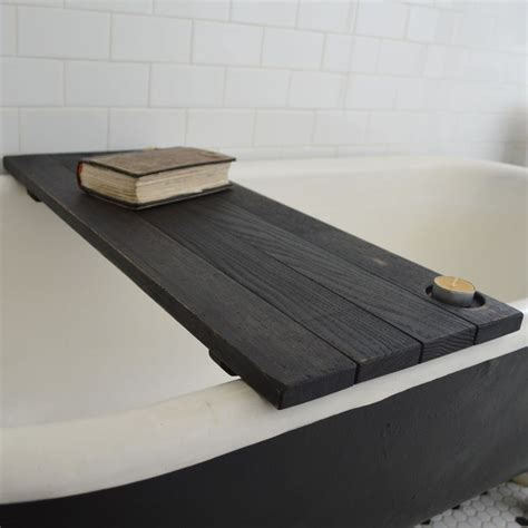 bathtub accessories ebonized tub caddy sisters of the black moon