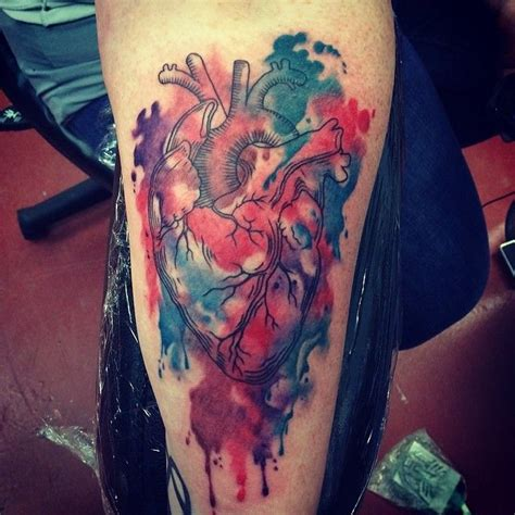 butterfly tattoo halifax watercolor anatomical heart tattoos by half pint