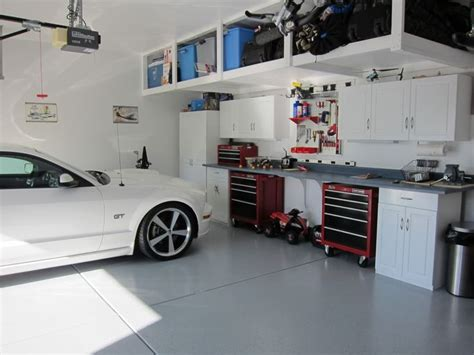 Garage Organization Overhead Upgrade Your Garage To Presidential Style With These White