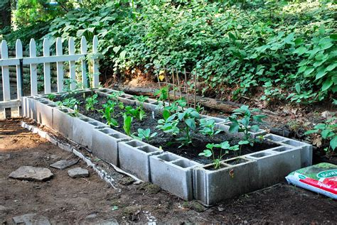 Garden Blocks by Cinder Block Garden Small Space