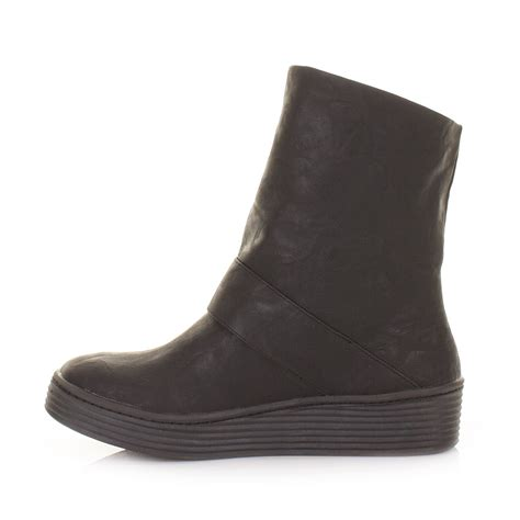 womens blowfish black barnaby wide fit flatform flat
