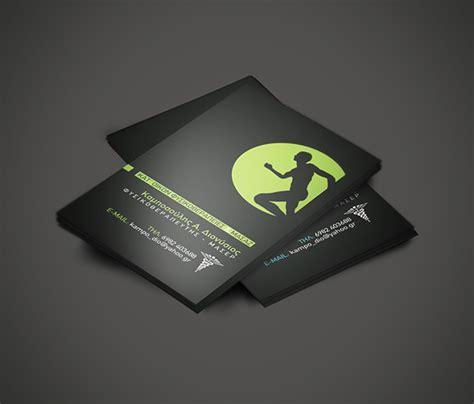 physiotherapy business cards templates biglietti da visita per fisioterapista 25 esempi