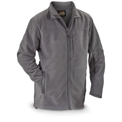 fleece zip jackets guide gear s 3 layer zip fleece jacket 641395