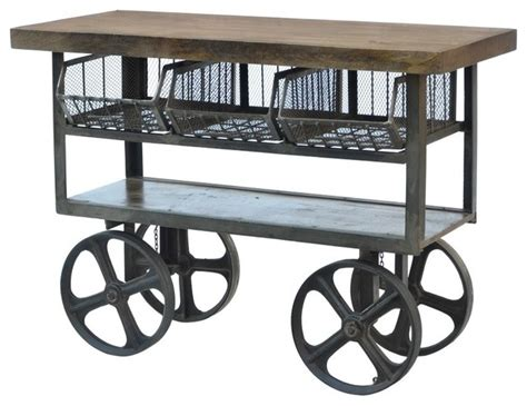 Kitchen Islands On Wheels With Seating by Iron Trolley Industrial Kitchen Islands And Kitchen