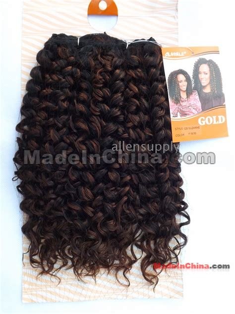 synthetic hair active with hot water 22inch noble gold gb suzanne water wave synthetic