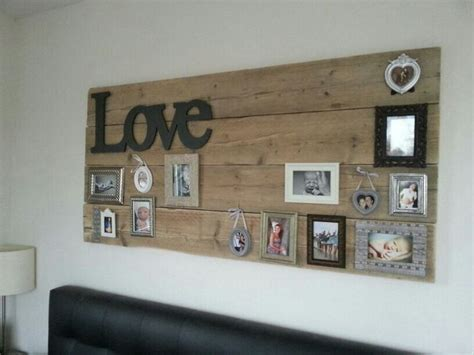 wohnzimmer wand idee steigerhouten fotowand huis en tuin und