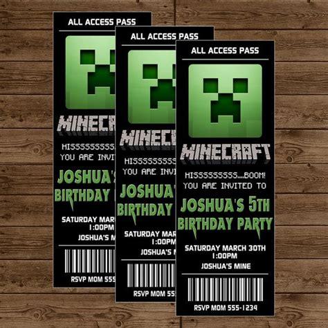 minecraft invitations template futureclim info