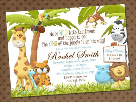 Safari Baby Shower Invitations Template Best Template Collection Safari Invitation Template Free