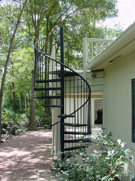 astonishing outdoor decoration with metal staircase design
