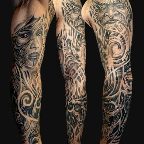 tattoos for men sleeves black and white amazing black and white sleeve ideas for