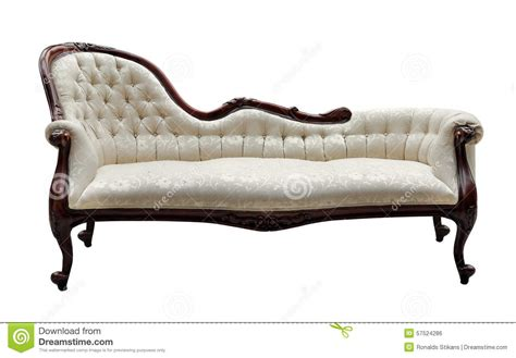white vintage couch vintage style couch isolated on white stock photo image